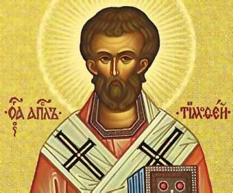 Reseña biográfica de san Timoteo, obispo y mártir